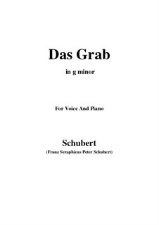 Das Grab (The Grave), D.330: G minor by Франц Шуберт