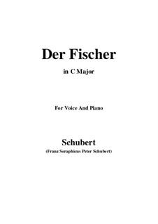 Рыбак, D.225 Op.5 No.3: Для голоса и фортепиано (C Major) by Франц Шуберт