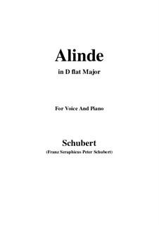 Alinde, D.904 Op.81 No.1: D flat Major by Франц Шуберт