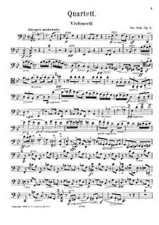 Квартет для струнных инструментов No.1 си-бемоль мажор, Op.11: Партия виолончели by Йосеф Сук
