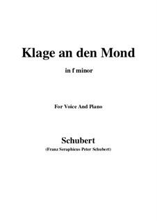 Klage an den Mond: F minor by Франц Шуберт