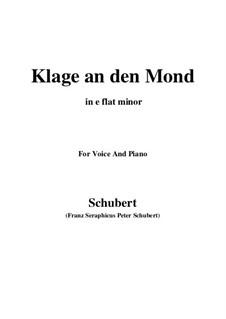 Klage an den Mond: E flat minor by Франц Шуберт