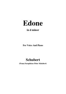 Edone, D.445: D minor by Франц Шуберт