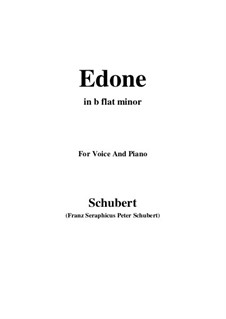 Edone, D.445: B flat minor by Франц Шуберт
