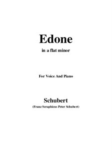 Edone, D.445: A flat minor by Франц Шуберт