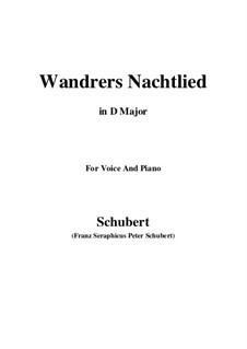 Ночная песня странника I, D.224 Op.4 No.3: Для голоса и фортепиано (D Major) by Франц Шуберт