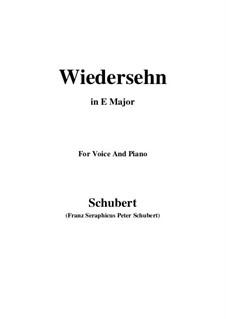 Wiedersehn (Reunion), D.855: E Major by Франц Шуберт