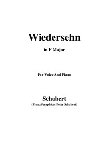 Wiedersehn (Reunion), D.855: Фа мажор by Франц Шуберт