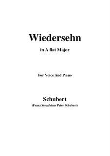 Wiedersehn (Reunion), D.855: A flat Major by Франц Шуберт
