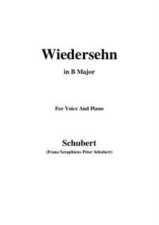 Wiedersehn (Reunion), D.855: B Major by Франц Шуберт