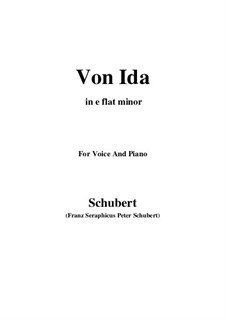 Von Ida, D.228: E flat minor by Франц Шуберт
