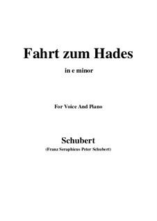 Fahrt zum Hades (Journey to Hades), D.526: E minor by Франц Шуберт