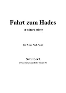 Fahrt zum Hades (Journey to Hades), D.526: C sharp minor by Франц Шуберт