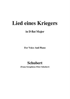 Lied eines Kriegers (Warrior's Song), D.822: D flat Major by Франц Шуберт