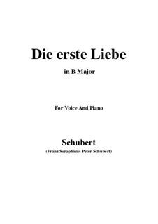 Die Erste Liebe (First Love), D.182: B Major by Франц Шуберт