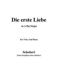 Die Erste Liebe (First Love), D.182: A flat Major by Франц Шуберт