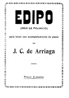 Edipo: Edipo by Хуан Кризостомо де Арриага