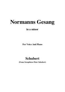 Norman's Song, D.846 Op.52 No.5: Для голоса и фортепиано (A minor) by Франц Шуберт