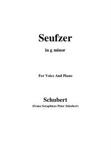 Seufzer (Sighs), D.198: Для голоса и фортепиано (G minor) by Франц Шуберт