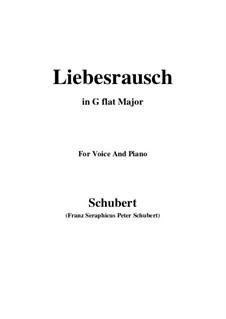 Liebesrausch, D.179: G flat Major by Франц Шуберт