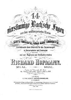 Избранные пьесы: Четырнадцать фуг для струнного квартета – Партия первой скрипки by Иоганн Себастьян Бах
