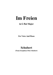 Im Freien (In the Open), D.880 Op.80 No.3: For voice and piano (G flat Major) by Франц Шуберт