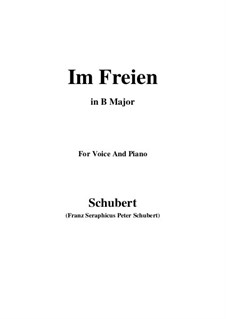 Im Freien (In the Open), D.880 Op.80 No.3: For voice and piano (B Major) by Франц Шуберт