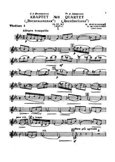 Струнный квартет No.11, Op.67 No.2: Партии by Николай Мясковский