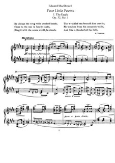 Четыре маленькие поэмы, Op.32: Сборник by Эдвард Макдоуэлл