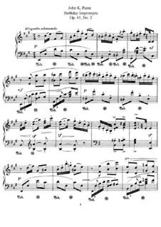 Three Pieces, Op.41: No.2 Birthday Impromptu by Джон Ноулз Пейн