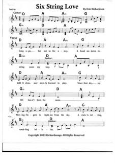 Six String Love: Six String Love by Eric Richardson