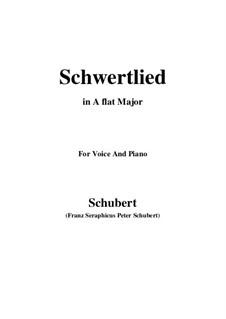 Schwertlied (Song of the Sword), D.170: Для голоса и фортепиано (A Flat Major) by Франц Шуберт