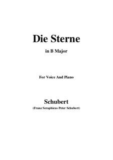 Die Sterne (The Stars), D.684: B Major by Франц Шуберт