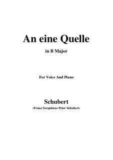 An eine Quelle (To a Spring), D.530 Op.109 No.3: B Major by Франц Шуберт