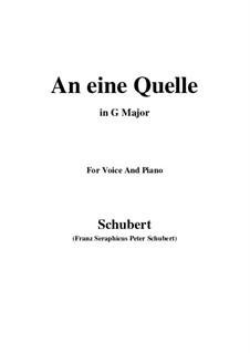 An eine Quelle (To a Spring), D.530 Op.109 No.3: G Major by Франц Шуберт