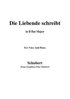 Die Liebende schreibt (Letter from a Girl in Love), D.673 Op.165 No.1: B flat Major by Франц Шуберт