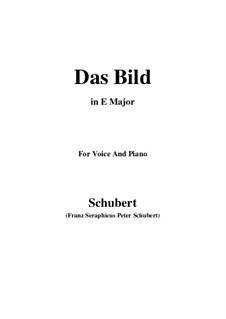 Das Bild (The Image), D.155 Op.165 No.3: E Major by Франц Шуберт