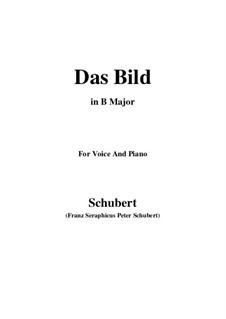 Das Bild (The Image), D.155 Op.165 No.3: B Major by Франц Шуберт