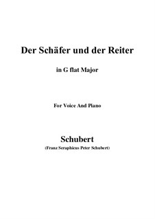 Der Schäfer und der Reiter (The Shepherd and the Horseman), D.517 Op.13 No.1: For voice and piano (G flat Major) by Франц Шуберт