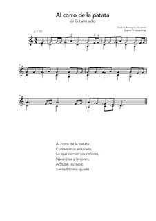 Al corro de la patata: For guitar solo (C Major) by folklore