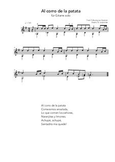 Al corro de la patata: For guitar solo (G Major) by folklore