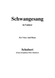 Лебединая песня, D.318: F minor by Франц Шуберт