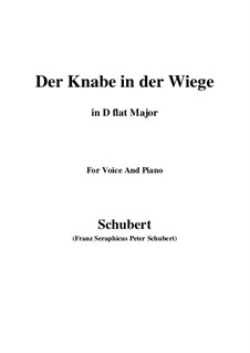 Der Knabe in der Wiege (The Infant in the Cradle), D.579: D flat Major by Франц Шуберт