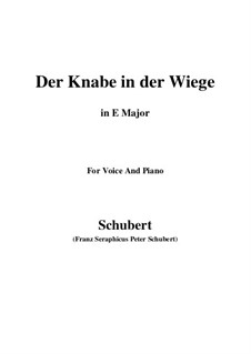 Der Knabe in der Wiege (The Infant in the Cradle), D.579: E Major by Франц Шуберт