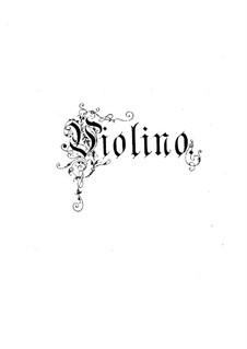 Белая дама: Увертюра, для флейты, скрипки и фортепиано – партия скрипки by Адриен Буальдье