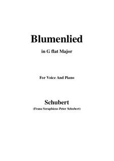 Blumenlied (Flower Song), D.431: G flat Major by Франц Шуберт