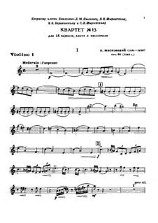 Струнный квартет No.13, Op.86: Партии by Николай Мясковский