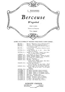 No.4 Колыбельная: Для меццо-сопрано (или баритона) и фортепиано by Иоганнес Брамс