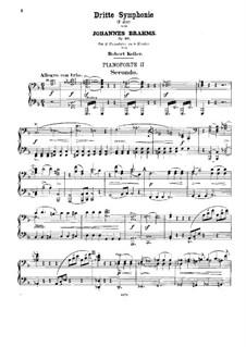 Все части: Версия для двух фортепиано в восемь рук – Партия второго фортепиано by Иоганнес Брамс