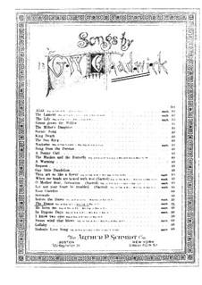 Six Songs, Op.14: No.1 The Danza for Mezzo-Soprano (or Baritone) and Piano by Джордж Уайтфилд Чедуик